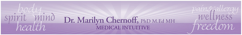 Dr. Marilyn Chernoff - NAET Allergy Elimination, Remote Healing, Live Pain Free